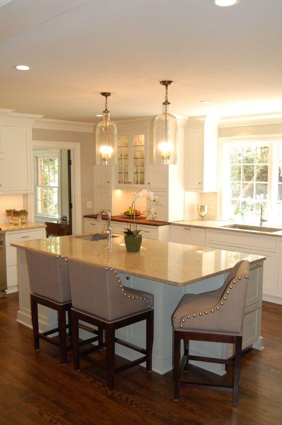 Elegant Open Kitchen Karen Kettler Design Charlotte