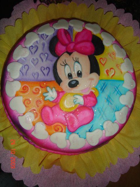 Baby Minnie Cake Torta De Minnie Bebe Pastel De