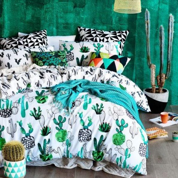 Home Republic Design Series Cactus Quilt Cover Set, quilt covers, quilt cover sets -- Designed by Rebecca Jones: