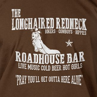 DAVID ALLAN COE Inspired Long Haired Redneck T Shirt