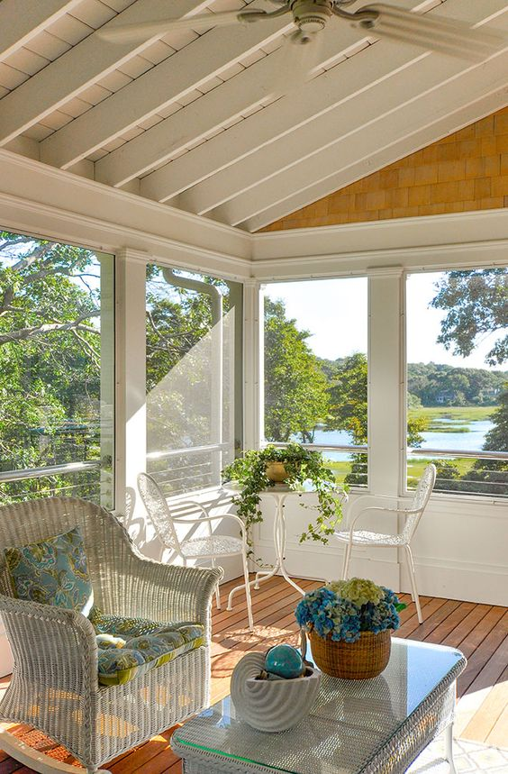 beautiful screened in porch beach house porches on stunning backyard lighting design decor and remodel ideas sources to understand id=46625
