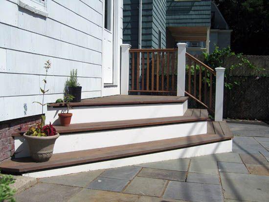 possible solution to raised back door | Backyard ... on Backdoor Patio Ideas id=77203