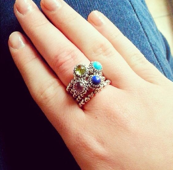 Gorgeous Stack On Pandora Birthstone Rings Your