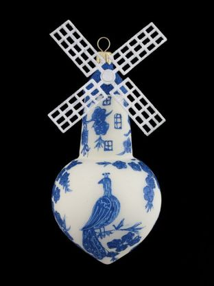 Delft Windmill Ornament: