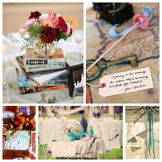 Travel-inspired Wedding Details: