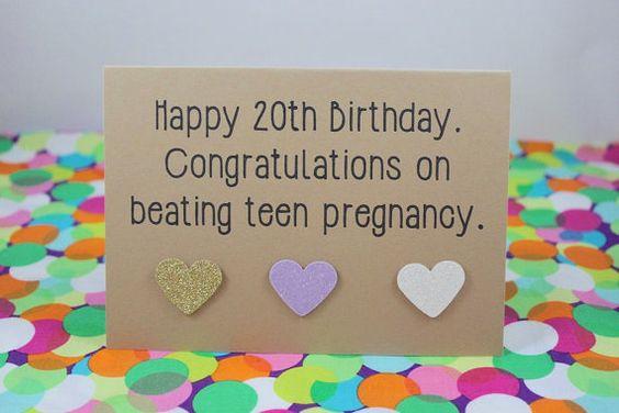 Funny 20th Birthday Card, Funny Birthday Card, 20th
