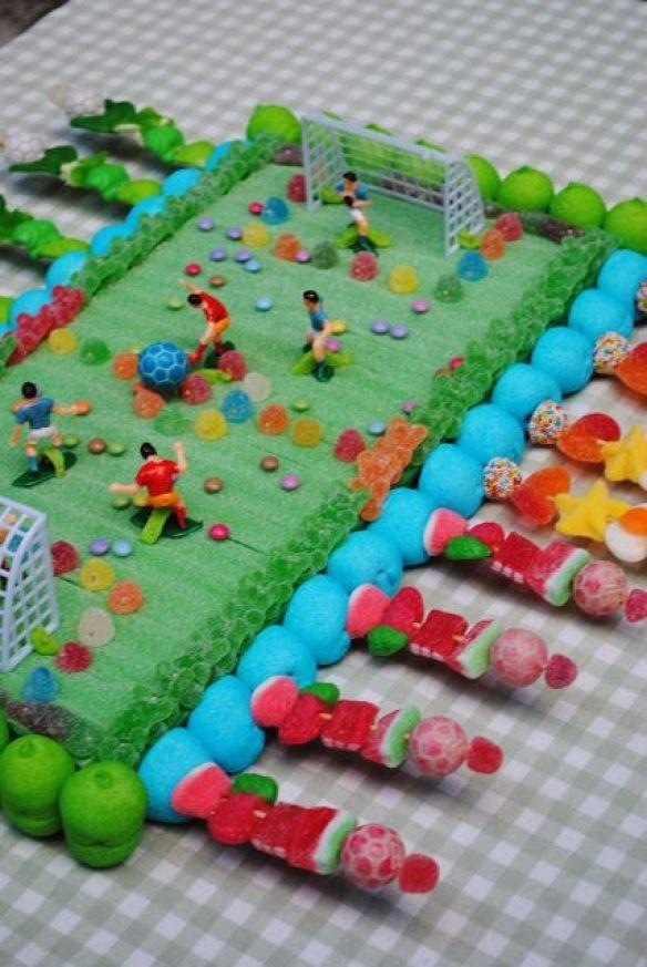 tartas de cumpleaños tematicas, comida divertida, futbol