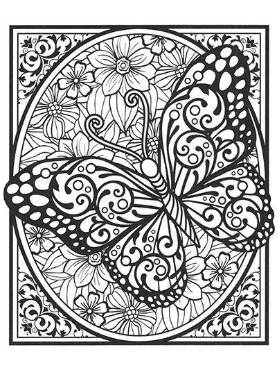 Butterflies for Colorists | Bojanke za odrasle | Pinterest ...