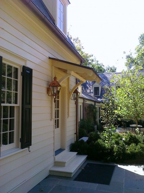A Little Awning Or Pergola Above The New Front Door