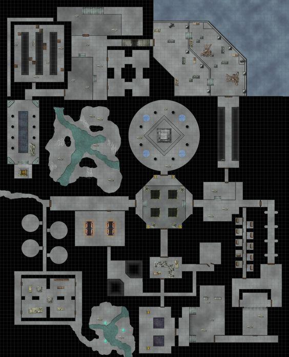 Dungeon Underground Underground Ruins Battle Map DampD
