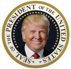 President Trump on Presidential Seal