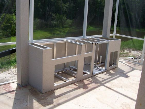 chic frames for outdoor kitchens with steel stud for kitchen island framed and small outdoor on outdoor kitchen island id=90254