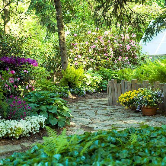 shade garden path ideas Shade Garden Ideas | Gardens, Sun and Walkways