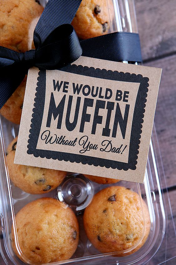 Give dad muffins with this cute tag for a delicious start to his Father's Day.