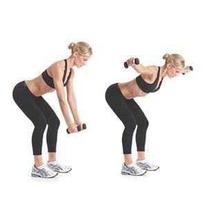 Back exercise w dumbells.: