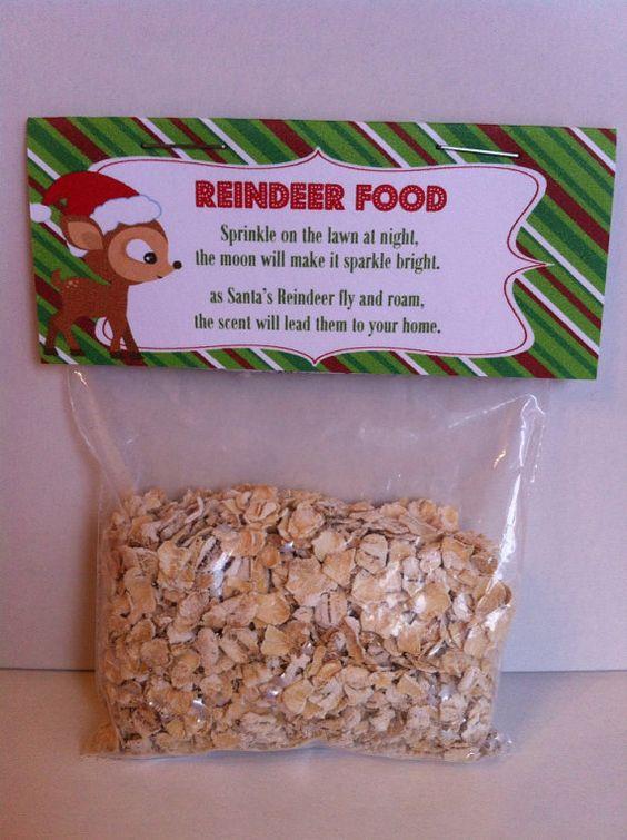 Snap Christmas Treat Bag Topper Reindeer Reindeer Food