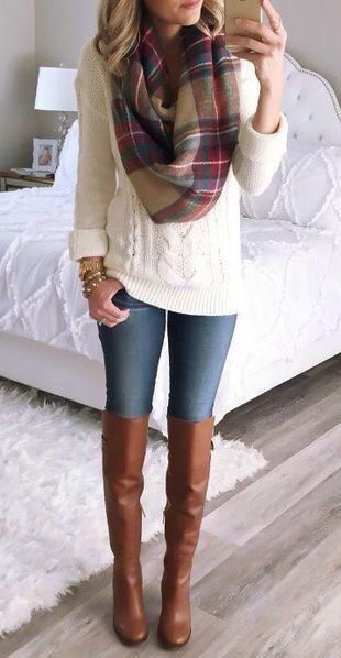 This would be perfect for once it gets really cold. I love a good chunky sweater, especially when mixed with skinny jeans and boots.: