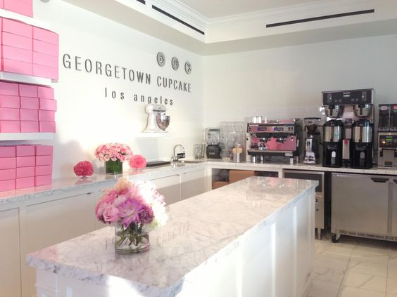 Georgetown Cupcakes, Store Interiors And Los Angeles On