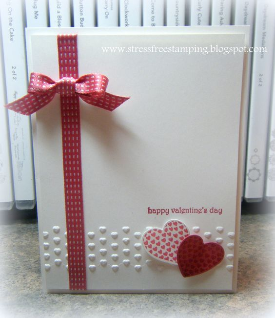 Handmade Valentine Card Luv The Clean Look Of This