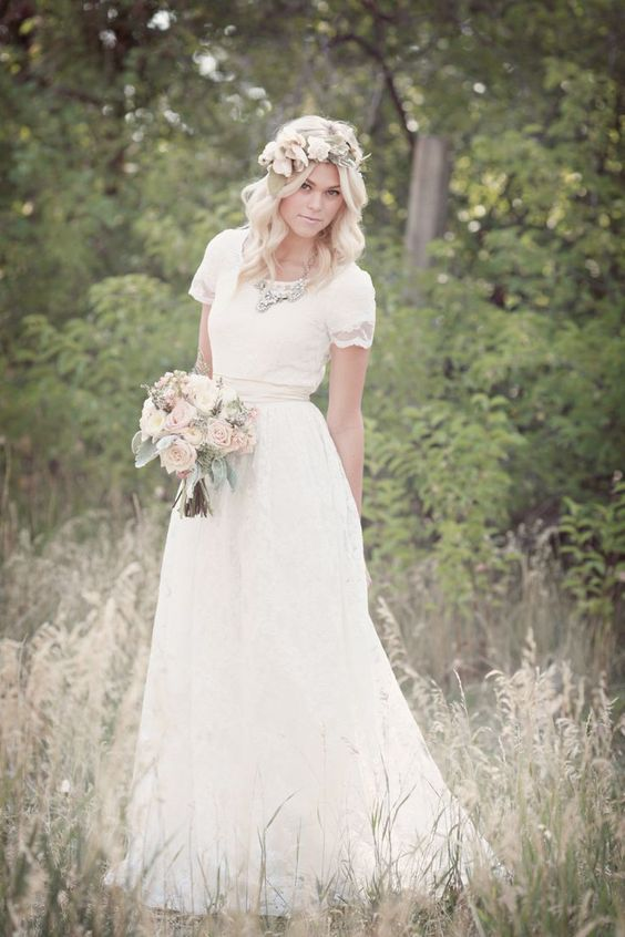 Modest Wedding Dress - LDS Wedding Dress
