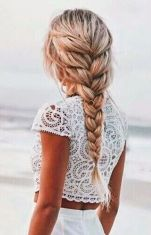 This braid is the perfect hairstyle for the boho bride.:
