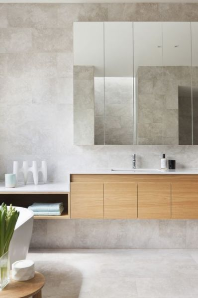 strong lines in bathroom design