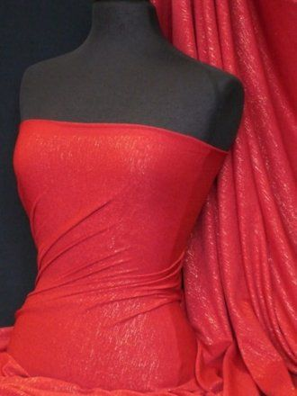 Viscose Lycra Subtle Shimmer- Red Q874 RD: