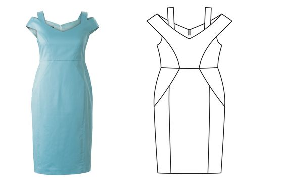 Burda 4/2017 — off the shoulder dress - plus size: