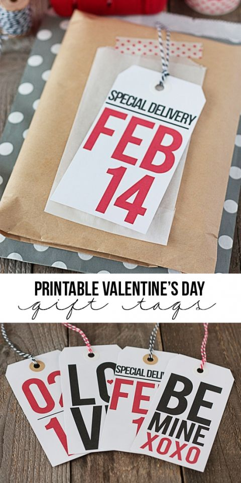 FREE Printable Valentine's Day Gift Tags via Tidy Mom