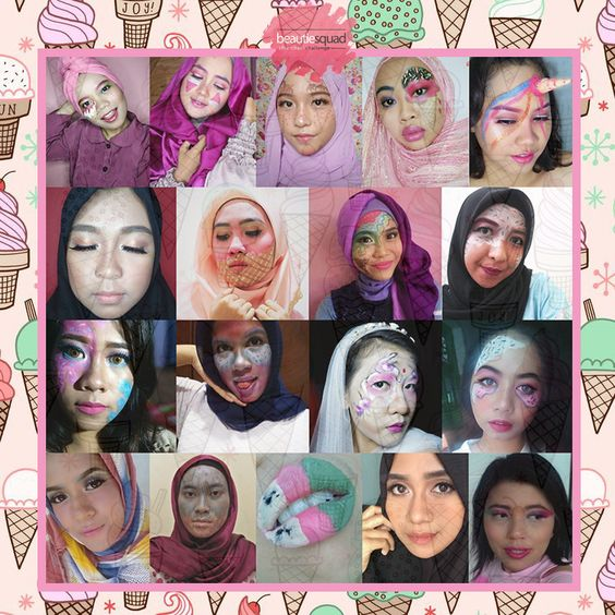 Beautiesquad - Ice Cream Makeup Collaboration