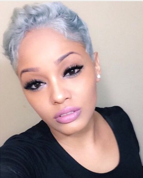Pixie cut - that color though!: