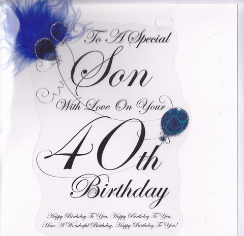 40th Birthday Wishes For Son 40th Birthday Cards