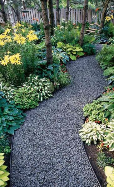 shade garden path ideas Gardens, Metal edging and Hosta gardens on Pinterest