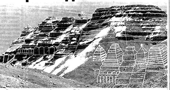 Фото 1. Восточная группа пирамид в комплексе Кайласа:
