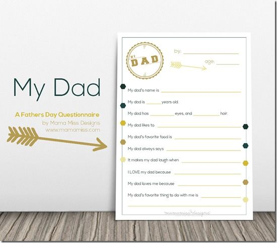 Father's day, Father and Free printable on Pinterest