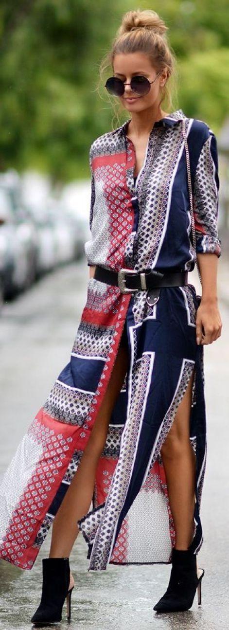 Paisley Print Dress: