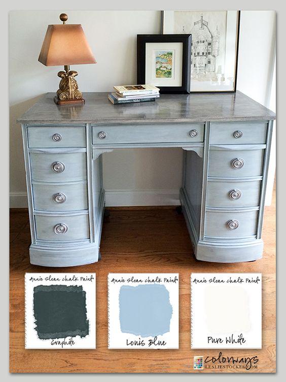 17 best images about chalk paint vanity desk the on desk color ideas id=18853