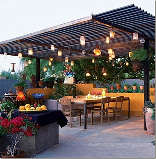 fairly inexpensive patio cover | Outdoor Spaces ... on Patio Cover Ideas Cheap id=50205
