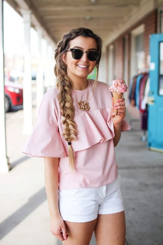 Ruffles are perfect for a preppy outfit!