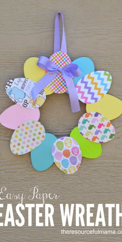 Easter Wreath - Fun Craft for Kids and Adults
