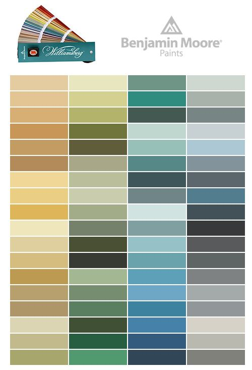 the williamsburg color collection interior design on benjamin moore exterior color chart id=76230