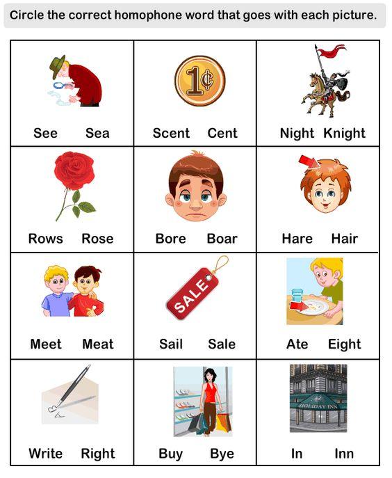 Homophone Word Worksheet10