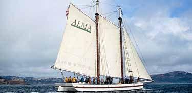 The National Historic Landmark scow schooner Alma (built ...