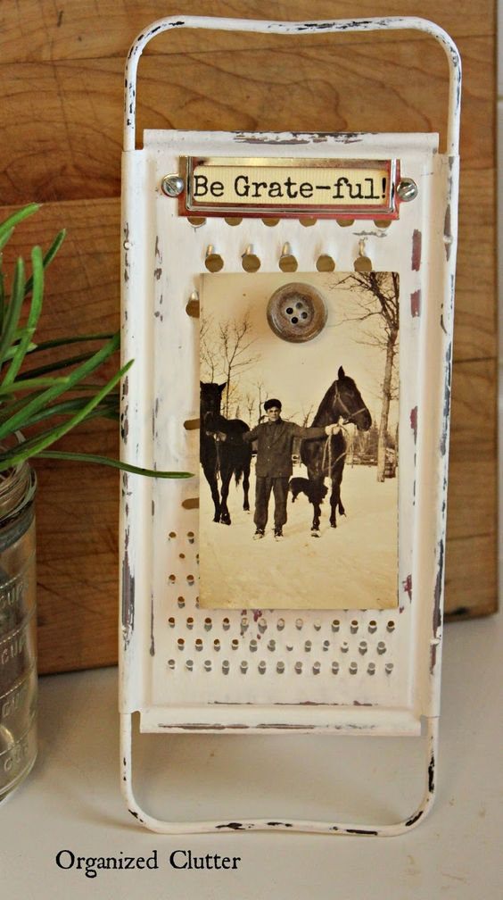 Repurposed Grater Photo Or Recipe Card Stand Www