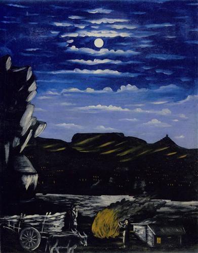 Arsenali Mountain at night - Niko Pirosmani,1908: