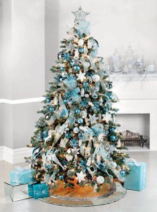 Zilver blauwe kerst