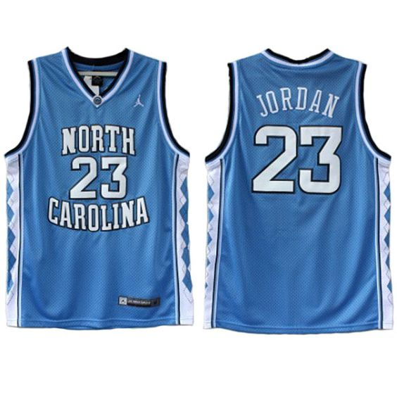 Michael Jordan North Carolina Jersey UNC Tar Heels Blue Jersey Stitched Name And Numbers