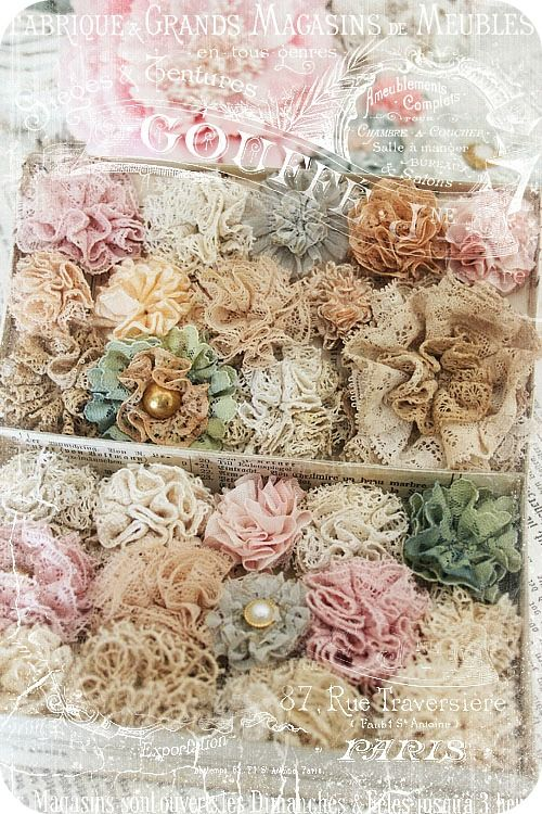 """DIY:: Doily, Lace, And Vintage Flower Tutorials ! You Now Have No Excuse - to Not """"Shabby Up"""" any Decor :):"""