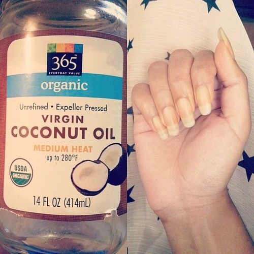 Coconut oil is perfect for your cuticles and nails!