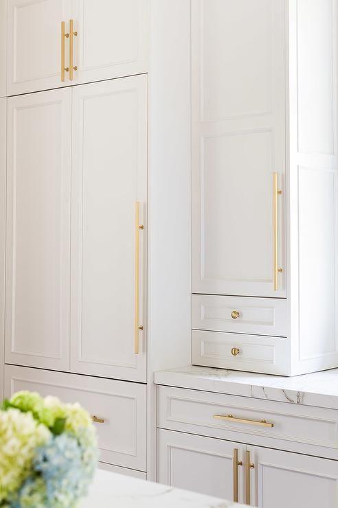 white kitchen cabinets with modern gold hardware kitchen decorating ideas pinterest on kitchen cabinets gold hardware id=72211